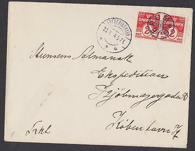DENMARK  4 ore  Stamp with obliteration star of the city of GJERUM