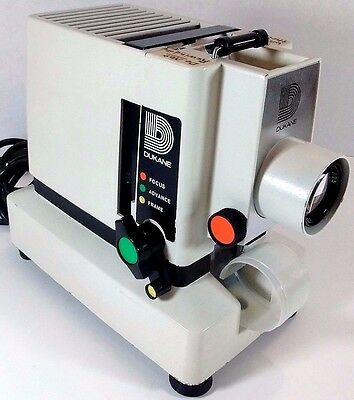 Vintage Working DUKANE Model 28A33A Silent Filmstrip Slide Projector With Manual