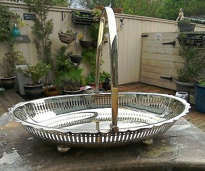 Vintage Silver Plated Fruit Bowl With Handle