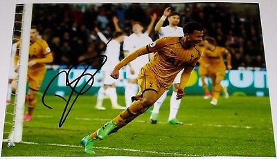 Dele Alli Tottenham Hot Spurs Personally Signed 12X8 Autograph Photo