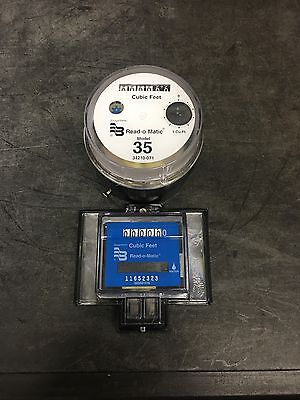 Badger Model 35 Water Meter Pulse Register And Remote Package. Cubic Feet