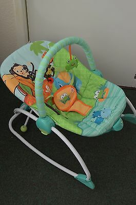 BRIGHT STARTS 3 in 1 Baby to Big Kid Rocker Toddler Chair Newborn. Vibrate + Toy