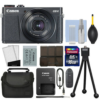 Canon PowerShot G9X Mark II Digital Camera 3x Optical Zoom Black + 16GB Kit