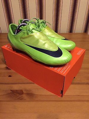 Nike Mercurial Vapor IV US 9,5 UK 8,5 Lime Green SG - Bosnia carbon fiber NEW!!!