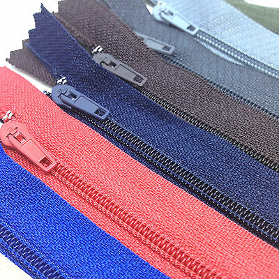 "5 x 14""/35cms Cushion Zips. Choice of 19 zip colours. Closed end No 3 zip"