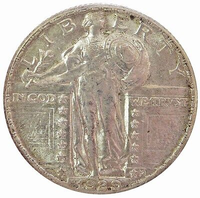 1929 Silver United States Standing Liberty Quarter Coin About Unc. Condition