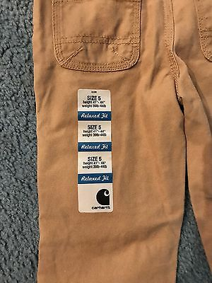 New Carhart Kids Size 5 Relaxed Fit Pants