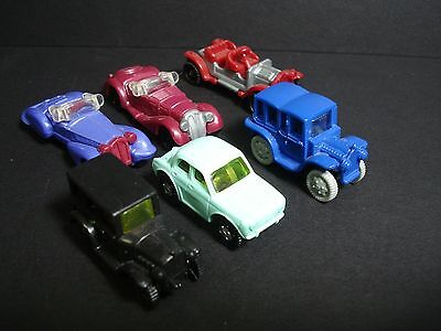 Six Lot Of  Kinder Surprise Vintage Cars Miniature Figures