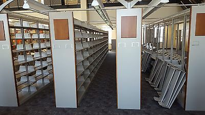 Book Shelving Library Cantilever Doublesided LEDS End Panels