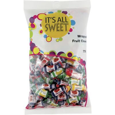 It's All Sweet Wrapped Fruit Chews 750g
