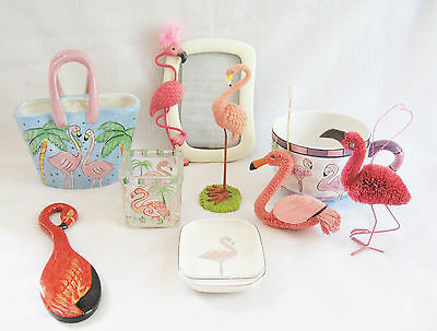 Flamingo Collectibles Lot - Ormsby Wall Pocket, Soap Dish, Candle Holder & More