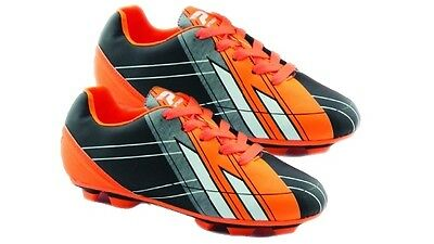 Patrick Junior Football Boots Comfortable & Lightweight - Black/Orange - Size 1