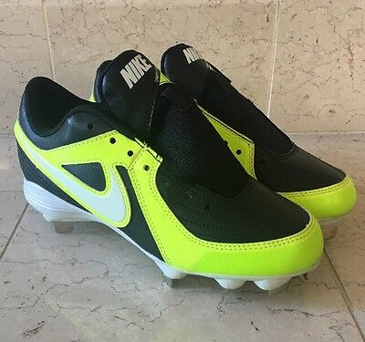 Nike A54 Unify Strike Women's Fastpitch Softball Cleats 537679-017 Black Neon 7