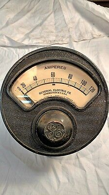 General electric amperes gauge 0-120 amps. 7 inch diameter