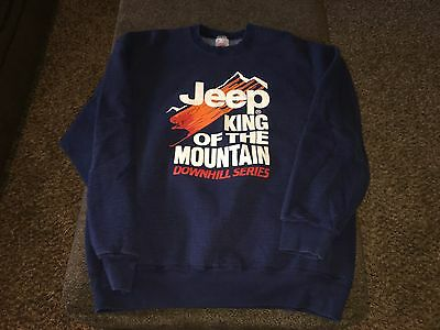 Vintage Jeep King Of The Mountain downhill series sweatshirt size XL HTF