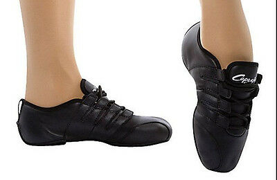 Capezio RIDER PowerPointe High Arch Black Leather Dance Sneakers Size 5 Women
