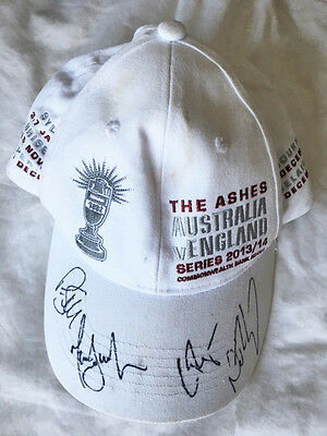 Genuine Cricket Australia 2013/14 Ashes Series Signed Player Cap - Used