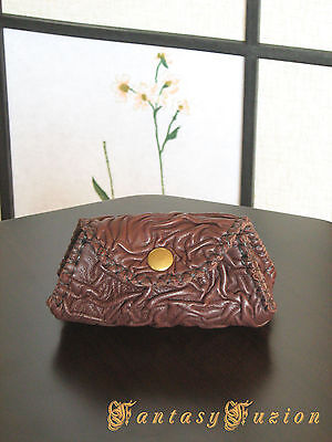 Victorian Style Unique Small Leather Coins Wallet