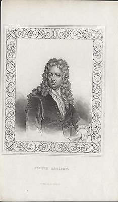 JOSEPH ADDISON - ORIGINAL 19th CENTURY ANTIQUE STIPPLE ENGRAVING c.1800s