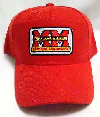 New Minneapolis-Moline Red Modern Machinery Logo Collector's Bcap