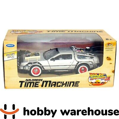 Welly Back to the Future III - Delorean Time Machine 1:24 Diecast Metal