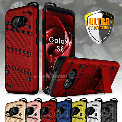 Military Grade Kickstand Rugged Armor Case Cover for Samsung Galaxy S8 / S8 Plus