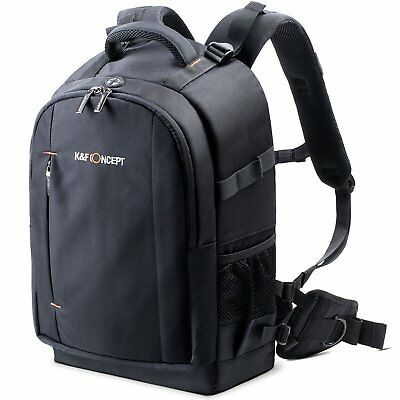 K&F Concept Large DSLR Camera Photo Bag Laptop Backpack Free Rain Cover Nylon