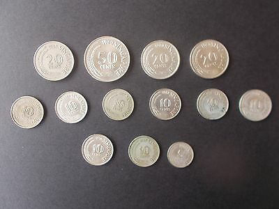 Singapore mixed coin collection.