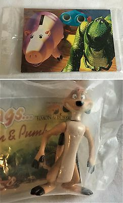 Timon figure Burger King Toy Story trading cards with knockout skybox Disney