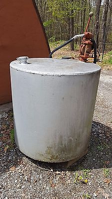 DIESEL FUEL STORAGE TANK (169 gal) & HAND PUMP- Very good condition