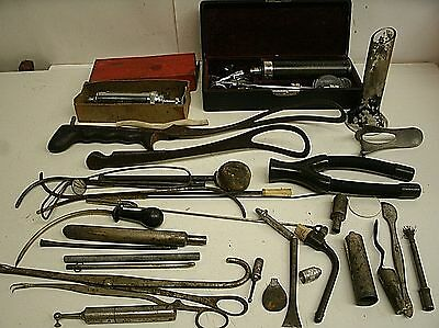 Vintage Misc Lot of Medical & surgical Instruments Veterinary - Ranch #511