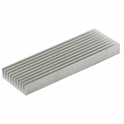 1pcs Aluminum Heat Sink Heatsink Thermal Pad Transfer Blades Silver 100x35x10mm