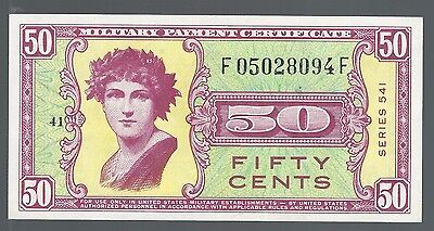 Series 541 Military Payment Certificate 50 Cents  GEM UNC