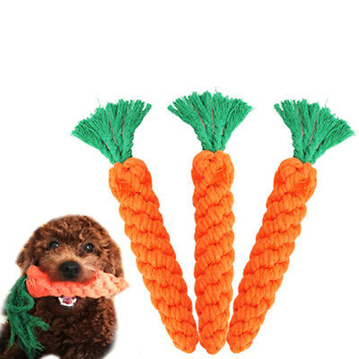 23CM Pet Puppy Rope Dog Cotton Chew Toy Ball Play Clean Teeth Dog Knot Carrot