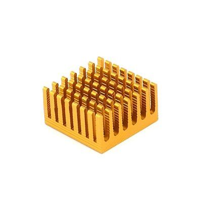 1x Aluminum Heatsink Heat Thermal Sink Shim Blade Golden 28x28x15mm, Routing CPU