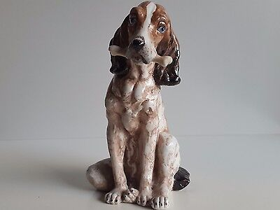 Figura De Perro De Porcelana Sureda Made In Spain