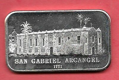 San Gabriel Archangel Mission .999 Silver Art Bar