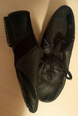 Black Leather Jazz Dance Shoes Sancha size 5