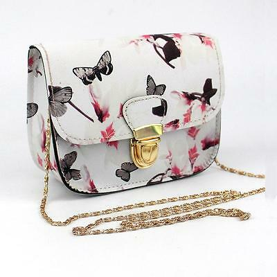 Women Ladies Floral Mini Chain Bag Shoulder Bag Tote Purse Handbag Messenger