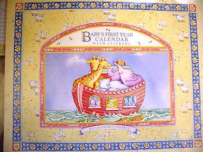 C.R. Gibson Baby First Year Calendar Cathy Heck Noah's Ark BA3-87 NEW Stickers