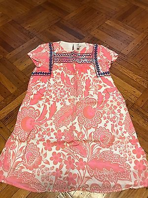 Crewcuts girls size 8 pink floral cotton short sleeve dress