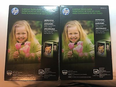 "Lot Of 2 HP Everyday Photo Paper 4"" x 6"" Glossy 200 Sheets Total"