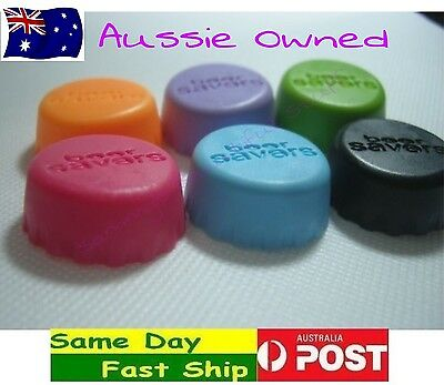 6x new Silicone Bottle Caps Cover Lid Stopper Cork Wine Beer Saver Reusable AU