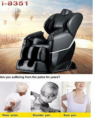 Brand New Massage Chair 8351 Zero-G Human Touch Heating Foot Roller Black