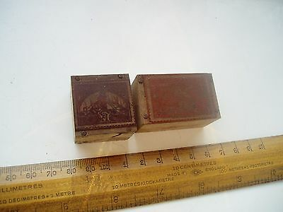 Two Philatelic Copper Printing Blocks 1947 Stamps South Africa Newfoundland