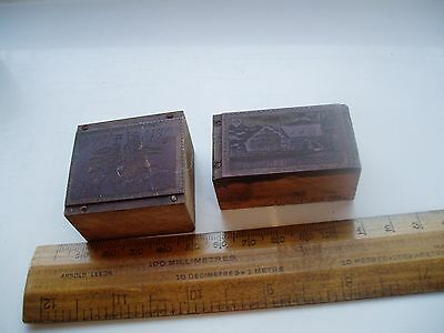 Two Philatelic Copper Printing Blocks 1947 Stamps Swiss & Italy