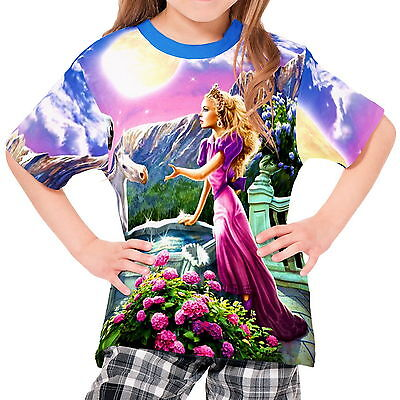 Unicorns Of The Princess Girls Kid Youth T-Shirt Tee wd1 agp44029