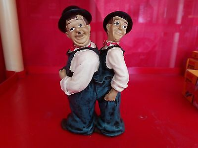 Vintage Ultra Rare! Laurel and (&) Hardy Statues Figures