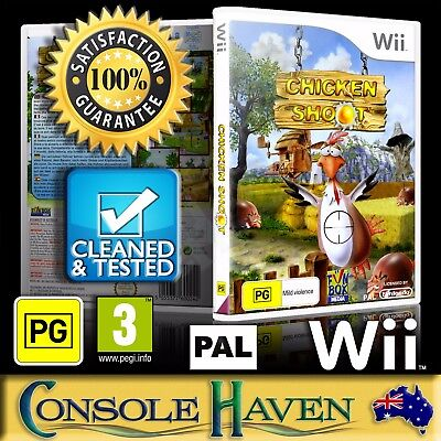 (Wii Game) Chicken Shoot / Chook Shot (PG) (Shooter) PAL, Guaranteed, Cleaned