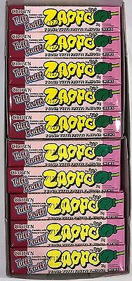 900703 BOX OF 60 x 26g PACKETS OF ZAPPOS, SOUR TUTTI FRUTTI FLAVOURED CHEWS!